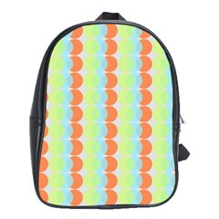 Circles Orange Blue Green Yellow School Bags (xl)  by Alisyart