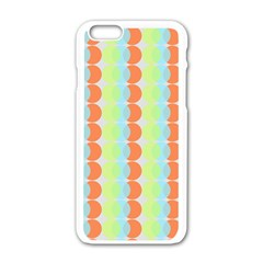 Circles Orange Blue Green Yellow Apple Iphone 6/6s White Enamel Case by Alisyart