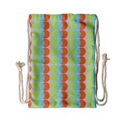 Circles Orange Blue Green Yellow Drawstring Bag (small) by Alisyart