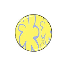 Doodle Shapes Large Flower Floral Grey Yellow Hat Clip Ball Marker (10 Pack) by Alisyart