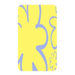 Doodle Shapes Large Flower Floral Grey Yellow Memory Card Reader by Alisyart