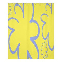 Doodle Shapes Large Flower Floral Grey Yellow Shower Curtain 60  X 72  (medium)  by Alisyart