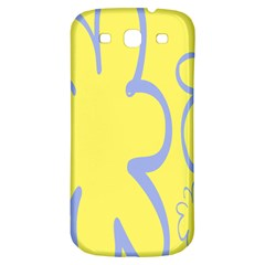 Doodle Shapes Large Flower Floral Grey Yellow Samsung Galaxy S3 S Iii Classic Hardshell Back Case by Alisyart