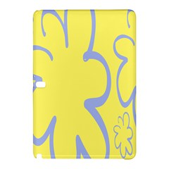 Doodle Shapes Large Flower Floral Grey Yellow Samsung Galaxy Tab Pro 12 2 Hardshell Case by Alisyart