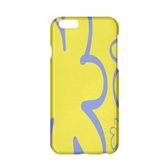 Doodle Shapes Large Flower Floral Grey Yellow Apple Iphone 6/6s Hardshell Case by Alisyart