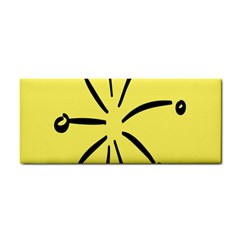 Doodle Shapes Large Line Circle Black Yellow Cosmetic Storage Cases by Alisyart