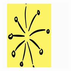 Doodle Shapes Large Line Circle Black Yellow Small Garden Flag (two Sides) by Alisyart