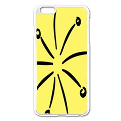 Doodle Shapes Large Line Circle Black Yellow Apple Iphone 6 Plus/6s Plus Enamel White Case by Alisyart