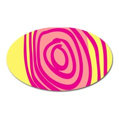 Doodle Shapes Large Line Circle Pink Red Yellow Oval Magnet by Alisyart