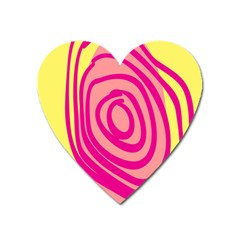 Doodle Shapes Large Line Circle Pink Red Yellow Heart Magnet by Alisyart