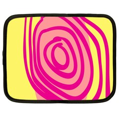 Doodle Shapes Large Line Circle Pink Red Yellow Netbook Case (xxl)  by Alisyart