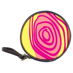 Doodle Shapes Large Line Circle Pink Red Yellow Classic 20 Cd Wallets by Alisyart