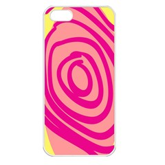 Doodle Shapes Large Line Circle Pink Red Yellow Apple Iphone 5 Seamless Case (white) by Alisyart