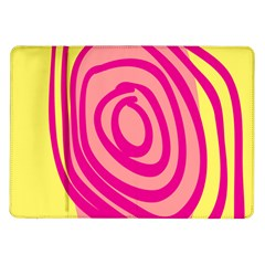 Doodle Shapes Large Line Circle Pink Red Yellow Samsung Galaxy Tab 10 1  P7500 Flip Case by Alisyart