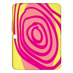 Doodle Shapes Large Line Circle Pink Red Yellow Samsung Galaxy Tab 3 (10 1 ) P5200 Hardshell Case  by Alisyart
