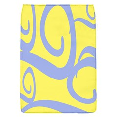 Doodle Shapes Large Waves Grey Yellow Chevron Flap Covers (s)  by Alisyart