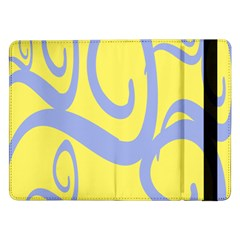 Doodle Shapes Large Waves Grey Yellow Chevron Samsung Galaxy Tab Pro 12 2  Flip Case by Alisyart