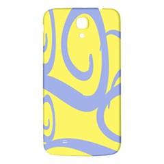 Doodle Shapes Large Waves Grey Yellow Chevron Samsung Galaxy Mega I9200 Hardshell Back Case by Alisyart