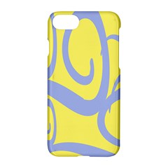 Doodle Shapes Large Waves Grey Yellow Chevron Apple Iphone 7 Hardshell Case by Alisyart