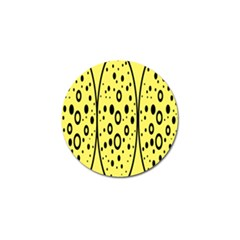 Easter Egg Shapes Large Wave Black Yellow Circle Dalmation Golf Ball Marker (4 Pack) by Alisyart