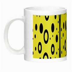 Easter Egg Shapes Large Wave Black Yellow Circle Dalmation Night Luminous Mugs by Alisyart