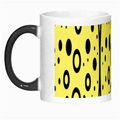 Easter Egg Shapes Large Wave Black Yellow Circle Dalmation Morph Mugs by Alisyart