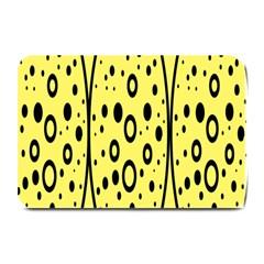 Easter Egg Shapes Large Wave Black Yellow Circle Dalmation Plate Mats by Alisyart