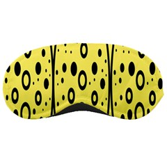 Easter Egg Shapes Large Wave Black Yellow Circle Dalmation Sleeping Masks by Alisyart