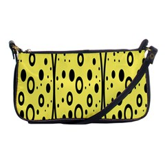 Easter Egg Shapes Large Wave Black Yellow Circle Dalmation Shoulder Clutch Bags