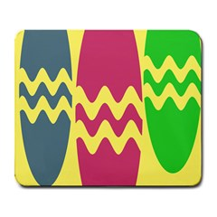 Easter Egg Shapes Large Wave Green Pink Blue Yellow Large Mousepads by Alisyart