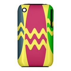 Easter Egg Shapes Large Wave Green Pink Blue Yellow Iphone 3s/3gs by Alisyart