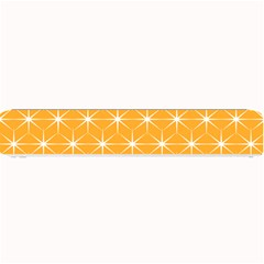 Yellow Stars Light White Orange Small Bar Mats by Alisyart