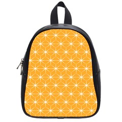 Yellow Stars Light White Orange School Bags (small)  by Alisyart