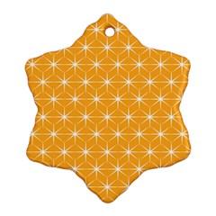 Yellow Stars Light White Orange Ornament (snowflake) by Alisyart