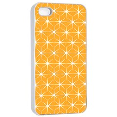 Yellow Stars Light White Orange Apple Iphone 4/4s Seamless Case (white) by Alisyart