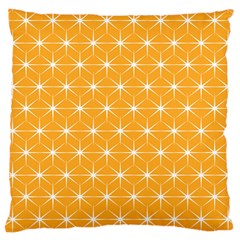 Yellow Stars Light White Orange Large Cushion Case (two Sides) by Alisyart