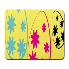 Easter Egg Shapes Large Wave Green Pink Blue Yellow Black Floral Star Large Mousepads by Alisyart