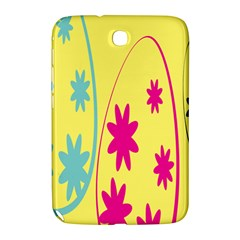 Easter Egg Shapes Large Wave Green Pink Blue Yellow Black Floral Star Samsung Galaxy Note 8 0 N5100 Hardshell Case  by Alisyart