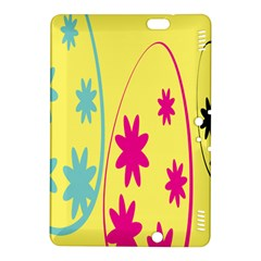 Easter Egg Shapes Large Wave Green Pink Blue Yellow Black Floral Star Kindle Fire Hdx 8 9  Hardshell Case by Alisyart