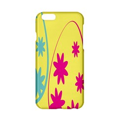 Easter Egg Shapes Large Wave Green Pink Blue Yellow Black Floral Star Apple Iphone 6/6s Hardshell Case by Alisyart