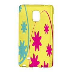 Easter Egg Shapes Large Wave Green Pink Blue Yellow Black Floral Star Galaxy Note Edge by Alisyart