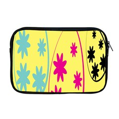 Easter Egg Shapes Large Wave Green Pink Blue Yellow Black Floral Star Apple Macbook Pro 17  Zipper Case by Alisyart