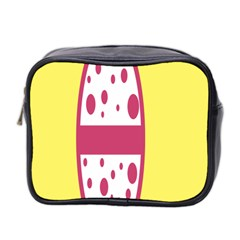 Easter Egg Shapes Large Wave Pink Yellow Circle Dalmation Mini Toiletries Bag 2 Side by Alisyart