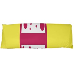 Easter Egg Shapes Large Wave Pink Yellow Circle Dalmation Body Pillow Case Dakimakura (two Sides) by Alisyart