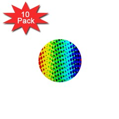 Comic Strip Dots Circle Rainbow 1  Mini Magnet (10 Pack)  by Alisyart