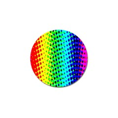 Comic Strip Dots Circle Rainbow Golf Ball Marker by Alisyart