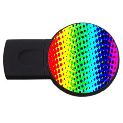 Comic Strip Dots Circle Rainbow Usb Flash Drive Round (2 Gb) by Alisyart