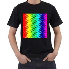 Comic Strip Dots Circle Rainbow Men s T Shirt (black) by Alisyart