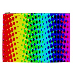 Comic Strip Dots Circle Rainbow Cosmetic Bag (xxl)  by Alisyart