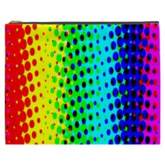 Comic Strip Dots Circle Rainbow Cosmetic Bag (xxxl)  by Alisyart